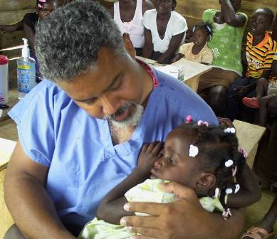 Fritz with Haitian Health Care Ministry Fund